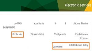 Status of Iqama Low Green