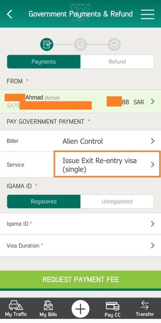 exit reentry visa absher