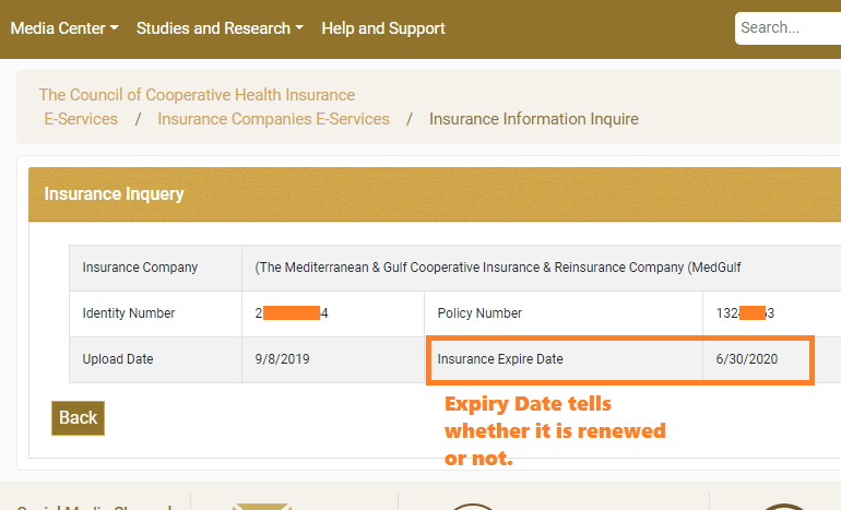 Health insurance portal