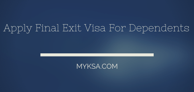 final exit visa for family members