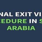 How To Apply For Final Exit Visa In Saudi Arabia |Latest Procedure | 2020
