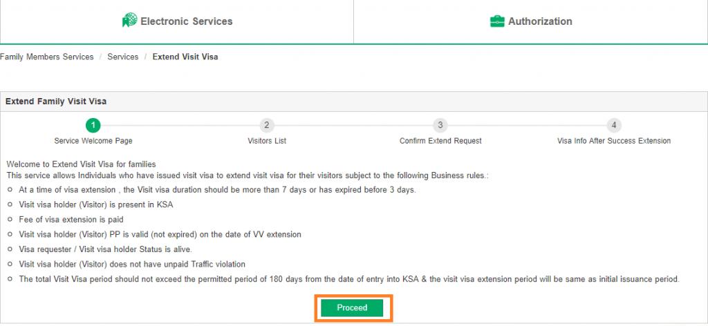 start visa extension service