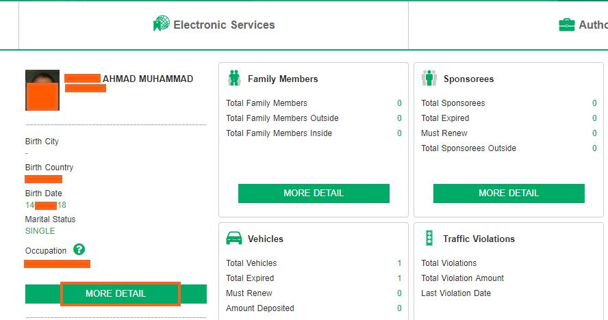 details for exit visa