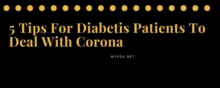 corona tips for diabetic patients