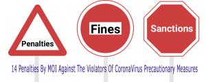 fines and penalties for corona virus violators.