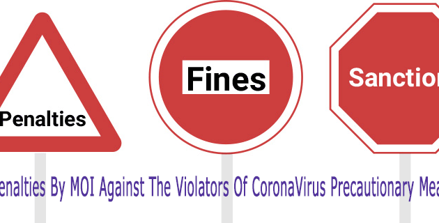fines and penalties for corona virus violators.