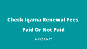 check iqama fees paid or not