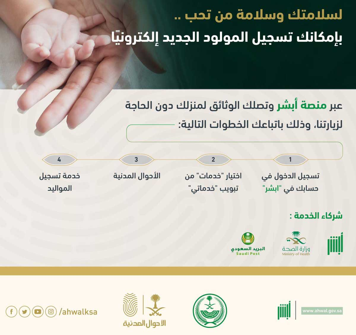 use absher to collect documents online
