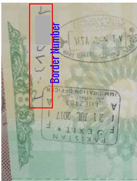how to find border number